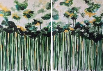 GREEN FOREST_ PAREJA DE 70X100CM
